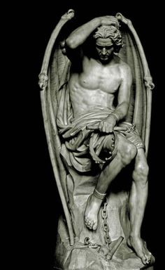 The world renown sculpture, known as Le genie du mal or The Genius of Evil, is probably one of the most famous angel sculptures in history, and is certainly the most noteworthy piece focusing on the fallen angel Lucifer. Finished in 1848 by the Belgian artist Guillaume Geefs, it's permanent home is in St. Paul's Cathedral in Liege Belgium. Due to it's location, the English name for the exquisite piece is The Lucifer of Liege, or simply Lucifer. #art #sculpture #archangel #lucifer #angels…
