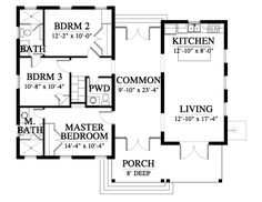 Please note that this plan is not drawn to local specifications. If your building locality requires that the plan is stamped, you will need to find a local architect or engineer to modify and stamp the plan for local codes. Dog Trot Floor Plans, Dog Trot House Plans, Modern House Plans, Small House Plans, House Floor Plans, The Plan, How To Plan, 900 Sq Ft House, Construction