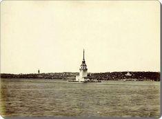 Eski zamanların İstanbul'u Kız Kulesi - 1880