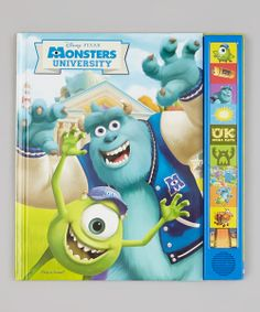 Take a look at the Monsters University Sound Book Hardcover on #zulily today!