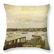 Maine's Bass Harbor Throw Pillow by Bill And Deb Hayes