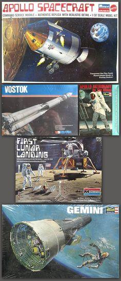 vintage spacecraft scale-model package-designs