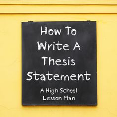 All writers of essays need to know how to write a thesis statement. Unfortunately, this proves difficult for inexperienced writers so teaching thesis statements should be the first step in teaching students how to write essays. Writing Lessons, Teaching Writing, Writing Activities, Teaching Tips, Teaching English, Writing Topics, Writing Contests, Essay Topics, Writing Strategies