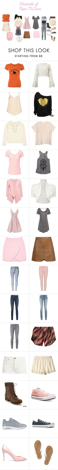 """""""The Wardrobe of Piper McLean"""" by a-fangirl-mrc on Polyvore featuring Miss Selfridge, Alice + Olivia, Madewell, The Great, Simplex Apparel, WearAll, Carven, Citizens of Humanity, AG Adriano Goldschmied and Yves Saint Laurent"""