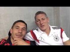 Lukas Podolski and Bastian Schweinsteiger