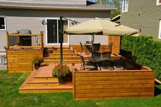 Ideas Backyard Patio Steps Seating Areas For 2019 Small Backyard Patio, Backyard Seating, Backyard Pergola, Pergola Roof, Backyard Deck Ideas On A Budget, Patio Bench, Wood Pergola, Patio Roof, Pergola Kits