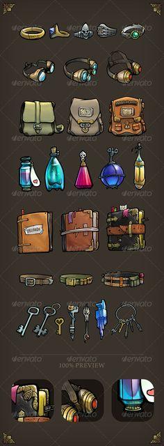 Game Item Pack - Sprites Game Assets