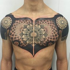 Tattoo by Pierluigi Deliperi #InkedMagazine #tattoo #chest #inked #art #tattoos