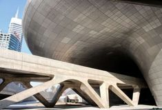 Futuristic Architecture, Zaha Hadid, Dongdaemun Design Plaza, Seoul, South Korea, Future Architecture, Modern Building
