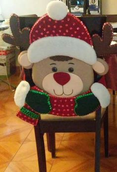 Christmas Chair, Christmas 2017, Christmas Snowman, Christmas Projects, All Things Christmas, Christmas Stockings, Christmas Holidays, Xmas, Christmas Ornaments