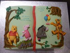 Winnie The Pooh Story Book Cake cakepins.com