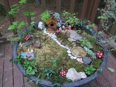 More ideas for a play garden for the kids.  Boys can use army men and dinosaurs and even lego men and chloe can use squinkies and her my little ponies and all her other tiny toys!