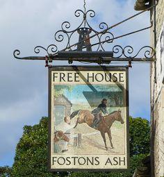 Pub Sign Art a la cARTe: The Fostons Ash - The Camp, Stroud, Gloucestershir. Pub Signs, Farm Signs, Beer Signs, Cambridge Pubs, Uk Pub, British Pub, Pub Crawl, Advertising Signs, Store Signs