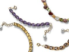 Dolce & Gabbana classic gold earrings, necklaces, rings and bracelets with gemstones, quartzes and garnets.