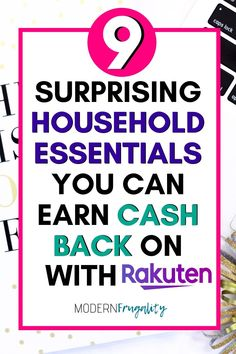 Do you want to save more money on the things you have to buy for your household?  Earn cash back on these items with Rakuten. #moneysavingtips #moneysavinghacks #cashbackhacks #savingmoneyideas #savemoneyongroceries #budgetingtips Loan Money, Money Plan, Investing Money, Money Tips, Money Saving Tips, No Spend Challenge, Money Saving Challenge, Frugal Living Tips, Frugal Tips