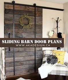 Sliding Barn Door Plans...I want this for my sliding glass doors...it would look so awesome!!  who can help me???