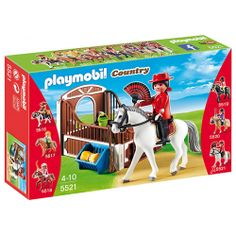 Drugim prezentowanym dziś zestawem jest   Playmobil 5521 - Koń Andaluzyjski z Biało-Brązowym Boksem Stajennym to wspaniałe uzupełnienie serii Playmobil Country!  Co znajduje się w zestawie oprócz konia? Sprawdźcie sami:)  #klocki #playmobil #playmobil5521 #playmobilcauntry #zestaw #zabawkiplaymobil #konplaymobil