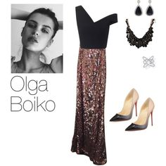 Sin título #10 by julia-bakaitis on Polyvore featuring polyvore, moda, style, Maticevski, Free People, Christian Louboutin, Vanilo, sweet deluxe and GE