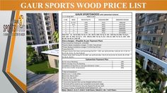 Get the wonderful apartments at the marvelously developed residential project Gaur Sports Wood. The fabulous project has been created in light of providing the most advanced flats with luxury. These homes are giving lavishing facilities and located in Noida sector 79.