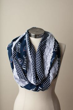 Tennessee Titans NFL Infinity Scarf by ThriftyGirlDesign on Etsy, $20.00