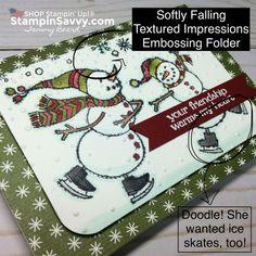 spirited snowmen, softly falling tief, stampin up, stampin savvy, tammy beard