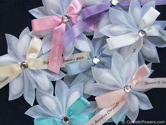 jordan almond Bouquet images   Bomboniera Catalogue > Confetti Ribbon Flowers > Portafino Sparkle