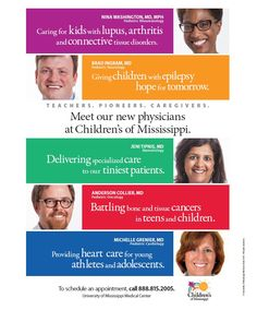 Children's of Mississippi new physician announcement ad. (September 2014) http://ummchealth.com