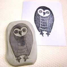 Ro Bruhn Art: More stamps Gelli Printing, Screen Printing, Stencil Art, Stencils, Baby Barn Owl, Homemade Stamps, Stamp Carving, Stampinup, Textiles