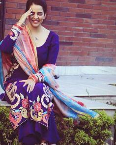 Designer Punjabi Suits, Indian Designer Wear, Embroidery Patterns, Hand Embroidery, Salwar Dress, Girls Dp, Shalwar Kameez, Indian Dresses, Indian Wear
