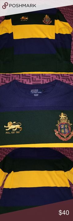 Crewneck sweatshirt It's barely worn from the mid 90's in mint condition. The colors are blue, green and gold Polo by Ralph Lauren Shirts Sweatshirts & Hoodies