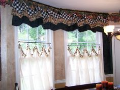 Provence French Country Valance Swag Curtain Waverly Red Gold Home Decor Curtains And