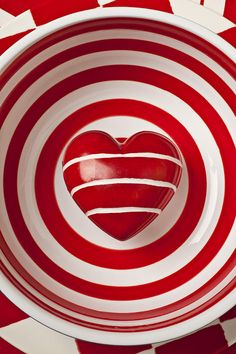 Striped Heart In Bowl Photograph  - Striped Heart In Bowl Fine Art Print