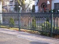 Antique cast iron fence