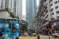 This May Be the World's Most Crowded Apartment Building: The Yick Fat Building is part of the hectic Quarry Bay district.