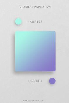 16 Beautiful Color Gradient Inspiration Part 3 Ui Color, Gradient Color, Hex Color Palette, Color Palettes, Color Patterns, Color Schemes, Color Palette Challenge, Web Design, Brand Design