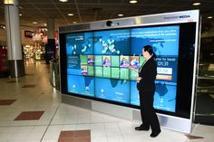 interactive touch screen wall