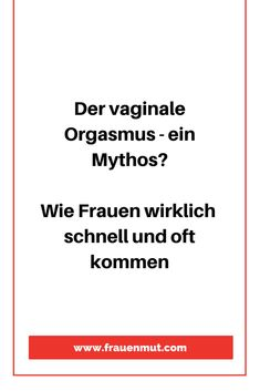 Weibliche Orgasmus-Anatomie