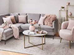 Blush Living Room, Living Room Decor Cozy, Living Room With Fireplace, Home Living Room, Apartment Living, Living Room Designs, Living Room Furniture, Living Room Themes, Decoration Inspiration