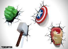 Avengers Wall Art Nightlights For Kids Room