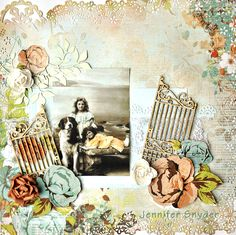 """Jennifer Snyder as Scrap Escape for Kaisercraft using Feb. 2013 sketch 3,   """"Lazy Day in the Garden"""""""