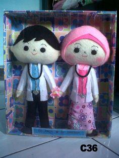boneka flanel dokter