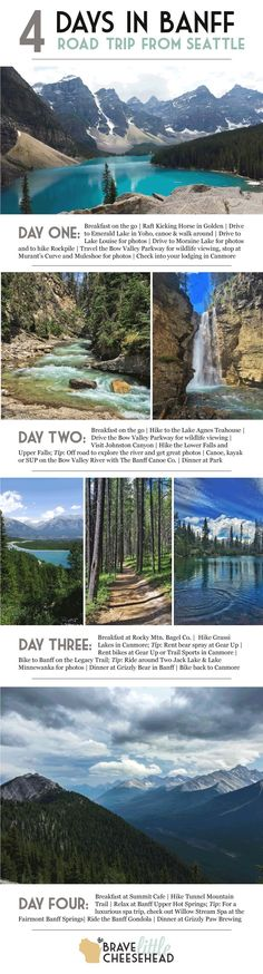 Was in Banff during the winter.would love to go in the summer. Four-day Banff National Park itinerary, a summer road trip from Seattle to Canada. Voyage Usa, Voyage Canada, Canada Travel, Travel Usa, Canada Trip, Canada Canada, Travel Tips, Jasper Canada, Parks Canada
