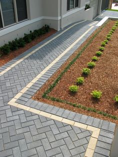 Australian Paving Centre has the largest display of pavers and retaining walls in Adelaide, Australia. Driveway Paving, Driveway Design, Brick Paving, Garden Paving, Garden Paths, Paver Walkway, Brick Paver Patio, Stone Walkway, Walkways