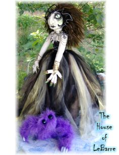 Goth Witch With Familiar by HouseofLeBarre on Etsy, $575.00