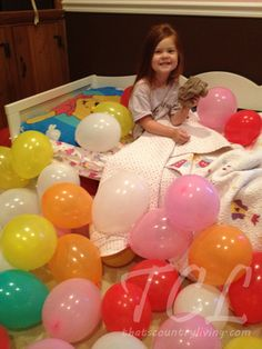 Birthday Balloon Wake-Up Call - Fill your kid's room with lots of balloons the night before their birthday so they wake up to an awesome surprise!