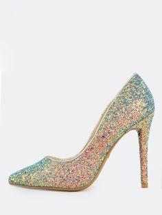Chic Women's Slip on Pointy Toe Stilettos Slingbacks Bowknot Mesh Fashion Shoes
