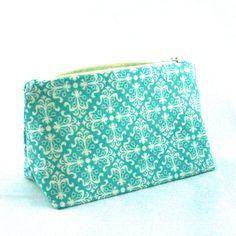 Aqua Bridesmaid Gift Bag in Retro Art Deco by LePiqueNiqueHandmade