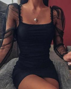 Glamouröse Outfits, Girly Outfits, Cute Casual Outfits, Stylish Outfits, Black Dress Outfits, Night Outfits, Looks Chic, Tight Dresses, Hoco Dresses