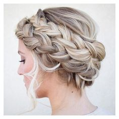 50 Cute and Trendy Updos for Long Hair ❤ liked on Polyvore featuring hair, wedding and hairstyle