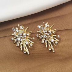 Holiday Gift Fabulous Handmade Post Earring Statement | Etsy Golden Earrings, Gold Drop Earrings, Wedding Earrings, Stone Earrings, Statement Earrings, Diamond Earrings, Antique Earrings, Minimalist Earrings, Fashion Earrings